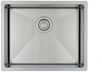 Fregadero de Cocina Mizzo Linea 50-40 | Acero Inoxidable 304 | Mueble de 60 cm | Montaje Bajo o Sobre Encimera o al Ras | Radio 10mm | 1 Seno