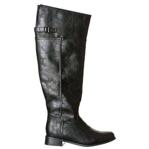 High Side Thigh Rider Boots Black 82 Zip Breckelle's Women's qxUgORW