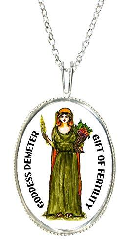 Goddess Lady Cameo - Goddess Demeter of Fertility 925 Sterling Silver 1