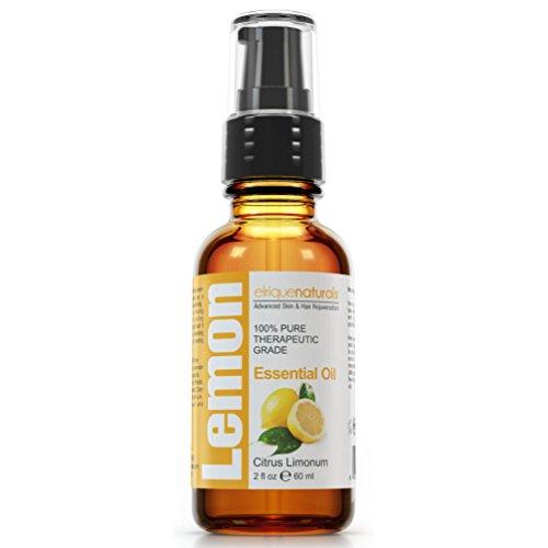 Best Quality Lemon Essential Oil - With No Fillers, Bases, Additives And Carrier Oils. Elrique Naturals Lemon Essential Oil BIG 2 OZ SIZE