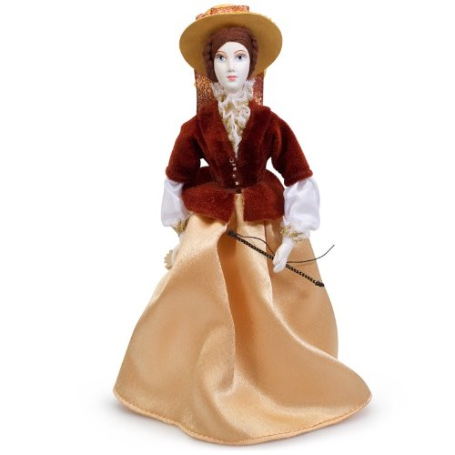 [Collectible Porcelain Doll 'Horseback Rider in a Brown Costume'] (Porcelain Doll Costumes)