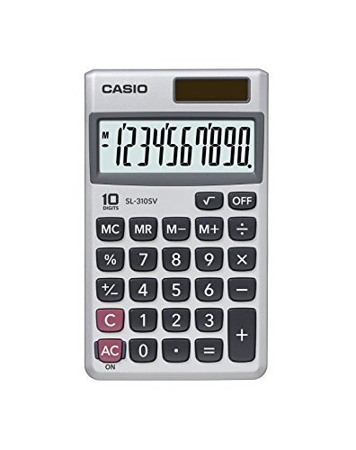 Casio SL 310SV Standard Function Calculator