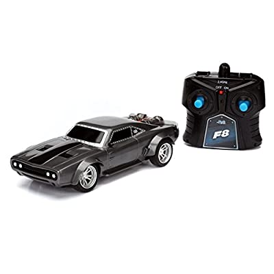 """Jada Toys Fast & Furious 8 7.5"""" RC - Ice Charger Vehicles: Toys & Games"""