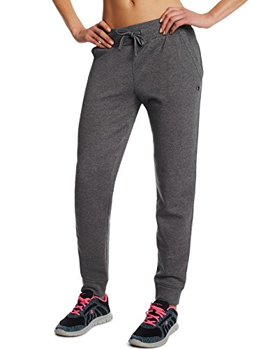 Sweatpants Cotton Blend (Champion Women's  Jogger, Granite Heather, Small)