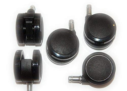 Herman Miller 2.5-Inch Aeron Office Chair Replacement Caster Set for Hard Floor (Set of 5)