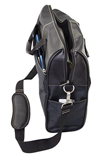 zoomyo Moderne Nylon Aktentasche mit Reißverschluss-Taschen