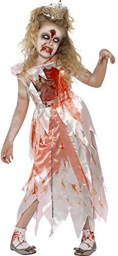 Girls Dead Zombie Blood Stained Sleeping Princess Halloween Fancy Dress Costume Outfit 4-9 Years (4-6 -