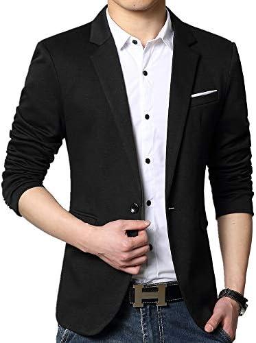 남성용 블레이저 재킷 슬림 핏 캐주얼 원 버튼 / 남성용 블레이저 재킷 슬림 핏 캐주얼 원 버튼