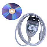 TOPEMAI Mini Vci J2534 Cable for Toyota Firmware V1.4.1 and Software V13.10.019 - TIS Techstream OBD2 USB Cable with CD Driver