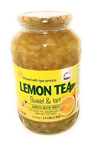 Haioreum Honey Lemon Tea - Sweet and Tart Korean Herbal Tea Infused with Ripe Lemons - Product of Korea 2.2 lb (1 (Sweets Cookie Jar)