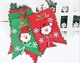クリスマスバナー 室内装飾 サンタクロース フラッグ 赤×緑 【2.5メートルタイプ】 【C-007】Xmasバナー
