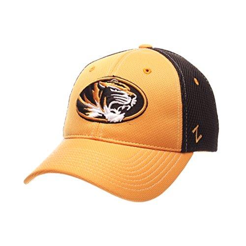NCAA Missouri Tigers Men's Rally Z-Fit Cap, Medium/Large, Black/Gold