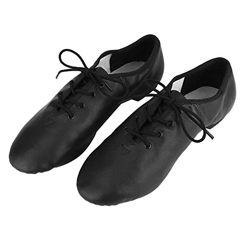 Alomejor Jazz Shoes Men Women Soft Sole Dancing Shoes Latin Shoes Ballroom Shoes Leather Slip-On Jazz Dancing Shoes(38)