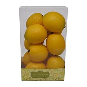 Florabunda 12-Piece Mini Decorative Fruit, Yellow Lemon 106