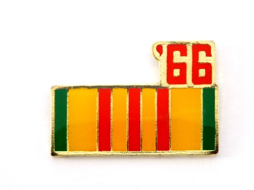 (Vietnam Veteran 1966 Ribbon Lapel Hat Pin Marines Army Navy Air Force PPM794)