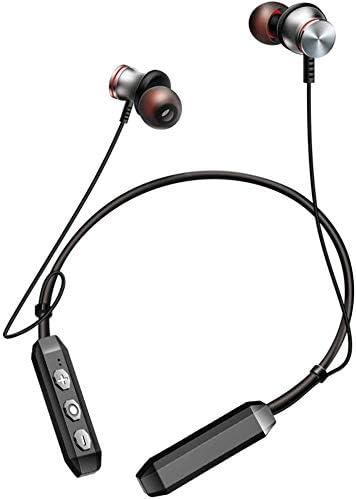 TYGYDLQ ノイズキャンセリングヘッドホンワイヤレスヘッドセット、Bluetoothヘッドセット、ステレオヘッドフォンスポーツは、内蔵マイク、ヘッドセット、ヘッドフォン磁石誘致します (Color : Gold)