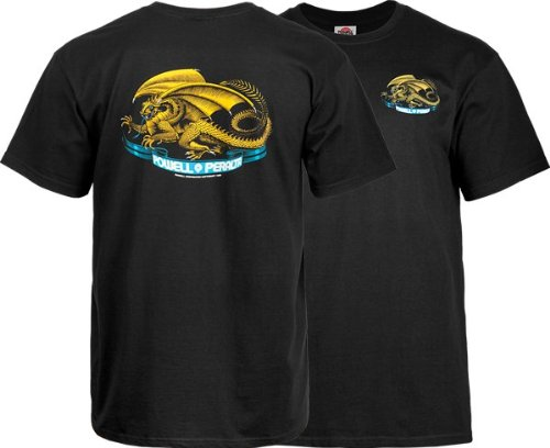 (Powell Peralta Oval Dragon T-Shirt - Size: X-LARGE Black)