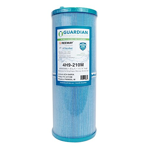 Guardian Antimicrobial Pool Spa Filter - Replaces Unicel 4CH-949 Filbur FC-0172 Pleatco PWW50L - Waterway Dynasty Rising Dragon ()