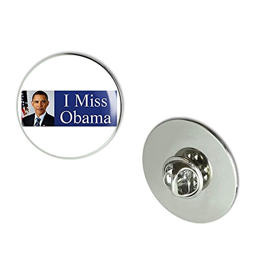 Obama Jewelry - NYC Jewelers I MISS OBAMA (barack president anti trump) Metal 0.75