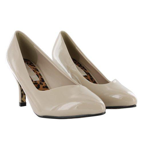 beige Blanco mujer Footwear de Zapatos Sensation vestir para qWpWy0HFc