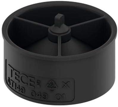 Tece 660015 drainline - Bloqueo antiolores (altura: 2,4 cm, ultraplano, antiolores y antiparásitos), color negro
