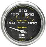 Auto Meter 4748 Carbon Fiber Electric Oil Temperature Gauge