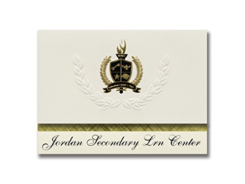 Signature Announcements Jordan Secondary Lrn Center (Garden Grove, CA) Graduation Announcements, Presidential style, Basic package of 25 with Gold & Black Metallic Foil seal