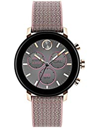 Connect 2.0 Unisex Powered with Wear OS by Google Stainless Steel and Pink Sand Fabric Smartwatch, Color: Pink (Model: 3660025)