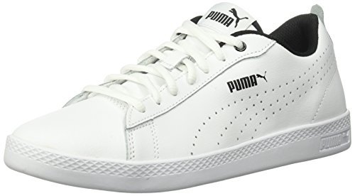 a09c02d33f94 PUMA Women s Smash WNS v2 Leather Perf Sneaker White