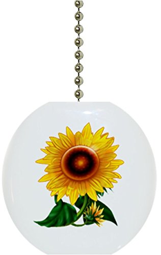 Gorgeous Sunflower Floral Solid Ceramic Fan Pull