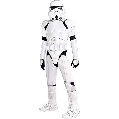 Costumes USA Star Wars Stormtrooper Costume Deluxe for Boys, Size Small, Includes a Jumpsuit, a Mask, a Belt, and More -