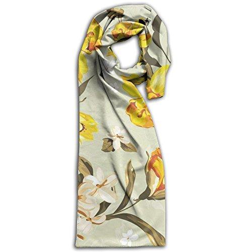 Silk Textured Wallpaper (HOT Watercolor Yellow Flower Wallpaper. Winter Fashion Adult Women Blanket Scarf Shawl!)