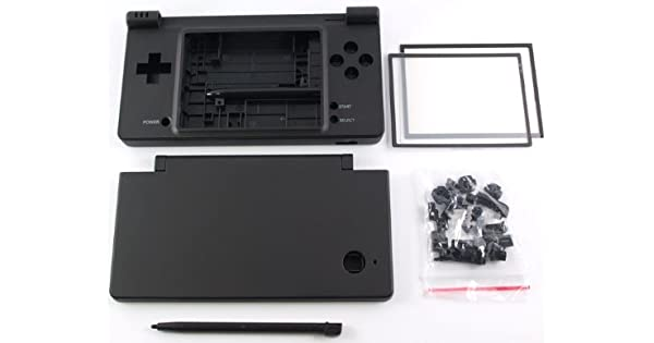Amazon.com: Matte Black Nintendo DSi Complete Full Housing ...