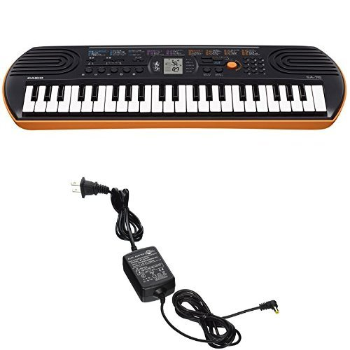 Casio SA76 44 Keys 100 Tones with World Tour Power Supply by Casio