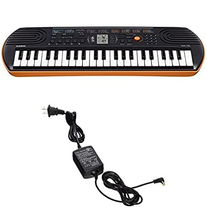 79148931f Amazon.com  Casio SA76 44 Keys 100 Tones with World Tour Power Supply  Musical  Instruments