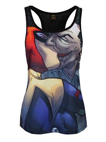 Batman Joker Kiss Girls Top Mujer multicolores Negro