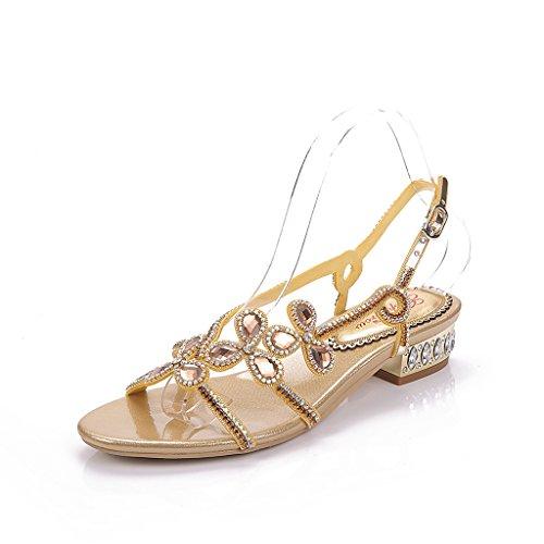 Meijili Sandalias Mujer Meijili Dorado Sandalias Dorado Mujer 8pqE5ff
