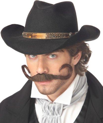 [Gunslinger Moustache Costume Accessory] (Woman Gunslinger Costume)