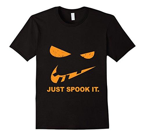 Mens Just Spook It Motivational Halloween Goal Gift Costume Shirt Small Black