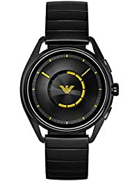 Men's Stainless Steel Plated Touchscreen Smartwatch, Color: Black (Model: ART5010)