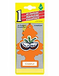 24 Little Tree Air Freshener - Orange, Fresh Coconut Scent