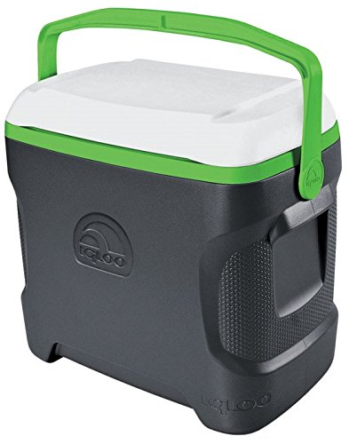 Igloo Contour Cooler Can (41 Count), Meteorite/White/Nuclear Green, 30 quart/28 L Review