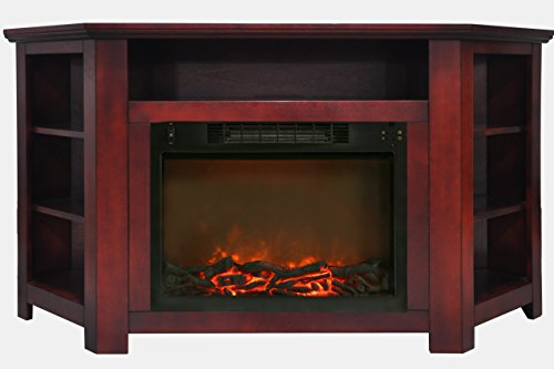 - Cambridge CAM5630-1CHR Stratford 56 In. Electric Corner Fireplace in Cherry with 1500W Fireplace Insert