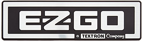 EZGO 71037G01 A Textron Company (Bright Silver Finish) (Nameplate Polished 3d)
