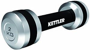 Kettler Chrom Hanteln 2 X 2 Kg, Schwarz/Silber, 07371-060