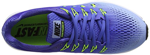 Nike Wmns Air Zoom Pegasus 33 - Entrenamiento y correr Mujer Azul (Med Blue/white/aluminum/deep Night/volt/black)