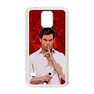 Dexter Blood Samsung Galaxy S5 Cell Phone Case White PQN6053055343558