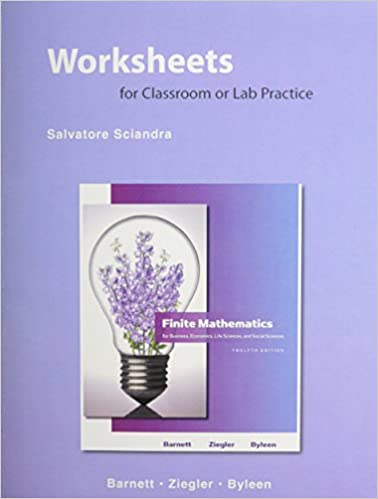 Worksheets for Classroom and Lab Practice for Finite Mathematics ...