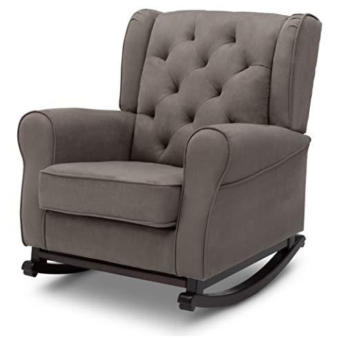 411Q7vOPuYL - Delta Children Emma Upholstered Rocking Chair, Graphite