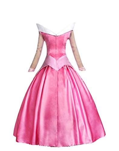 1stvital Elegant Cosplay Costume Princess Party Dress For Women Pink, M (Aurora Costume Adult)